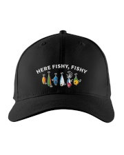 Here fishy fishy Embroidered Hat front