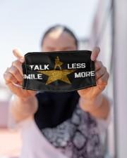 TALK LESS SMILE MORE Cloth face mask aos-face-mask-lifestyle-07