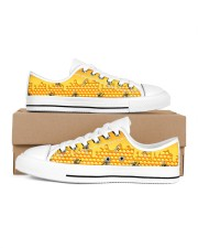 HoneyComb Bee Shoes Women's Low Top White Shoes inside-right-outside-right