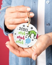 2020 Stink Stank Stunk Circle ornament - single (porcelain) aos-circle-ornament-single-porcelain-lifestyles-01