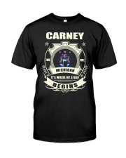Carney-MI proud perfect Tee Classic T-Shirt front