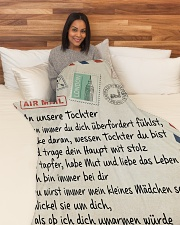 """An unsere Tochter Large Fleece Blanket - 60"""" x 80"""" aos-coral-fleece-blanket-60x80-lifestyle-front-05"""