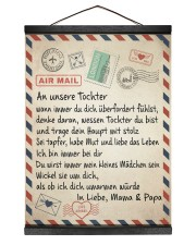 An unsere Tochter 12x16 Black Hanging Canvas thumbnail