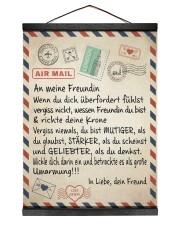 Freundin - Freund 12x16 Black Hanging Canvas thumbnail