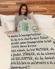 "Schwiegertochter - Schwiegermutter Large Fleece Blanket - 60"" x 80"" aos-coral-fleece-blanket-60x80-lifestyle-front-05"
