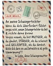 """Schwiegertochter - Schwiegermutter Large Fleece Blanket - 60"""" x 80"""" front"""