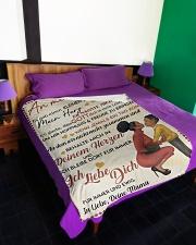"Sohn - Mama Large Fleece Blanket - 60"" x 80"" aos-coral-fleece-blanket-60x80-lifestyle-front-01"