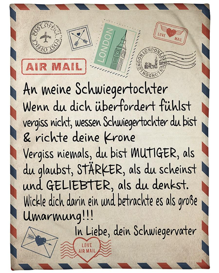 "Schwiegertochter - Schwiegervater Large Fleece Blanket - 60"" x 80"""