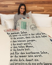 "Sohn - Vater Large Fleece Blanket - 60"" x 80"" aos-coral-fleece-blanket-60x80-lifestyle-front-05"