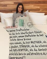 "Stieftochter - Stiefvater Large Fleece Blanket - 60"" x 80"" aos-coral-fleece-blanket-60x80-lifestyle-front-05"