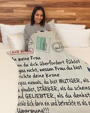 "Frau - Ehemann Large Fleece Blanket - 60"" x 80"" aos-coral-fleece-blanket-60x80-lifestyle-front-05"