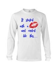 Funny shirt for pregnant woman- maternity dress Long Sleeve Tee thumbnail