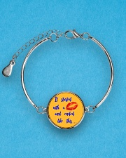 Funny shirt for pregnant woman- maternity dress Metallic Circle Bracelet aos-bracelet-metal-front-lifestyle-3