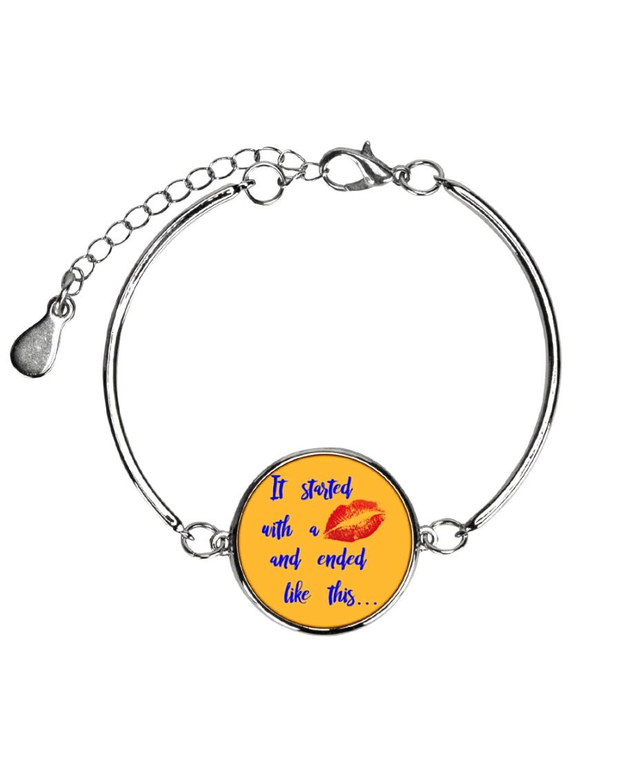 Funny shirt for pregnant woman- maternity dress Metallic Circle Bracelet