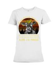 cow mug - I'm sorry I licked you french vs Premium Fit Ladies Tee thumbnail