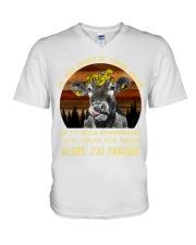 cow mug - I'm sorry I licked you french vs V-Neck T-Shirt thumbnail
