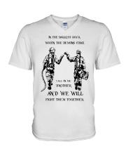 Call On Me Brother V-Neck T-Shirt thumbnail