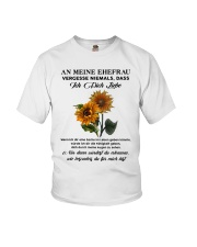 sunflower T-shirt - to wife - never forget that Youth T-Shirt thumbnail