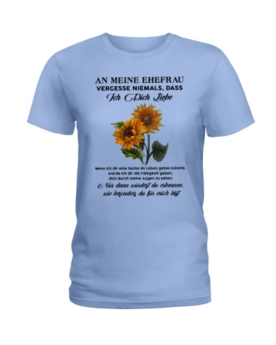 sunflower T-shirt - to wife - never forget that