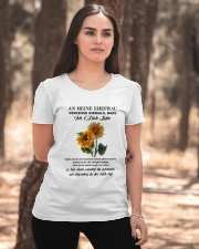 sunflower T-shirt - to wife - never forget that Ladies T-Shirt apparel-ladies-t-shirt-lifestyle-05