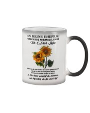 sunflower T-shirt - to wife - never forget that Color Changing Mug thumbnail