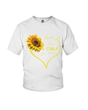 sunflower T-shirt - being a Nana german vs Youth T-Shirt thumbnail