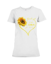 sunflower T-shirt - being a Nana german vs Premium Fit Ladies Tee thumbnail