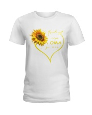 sunflower T-shirt - being a Nana german vs Ladies T-Shirt front