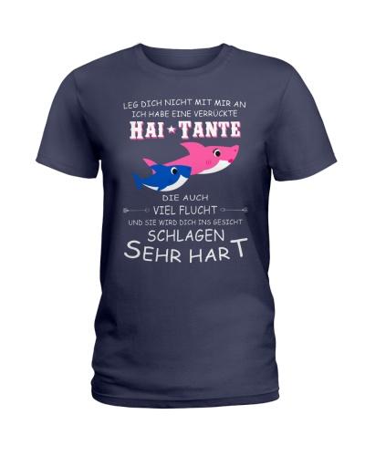 shark T-shirt - Don't mess with me german vs