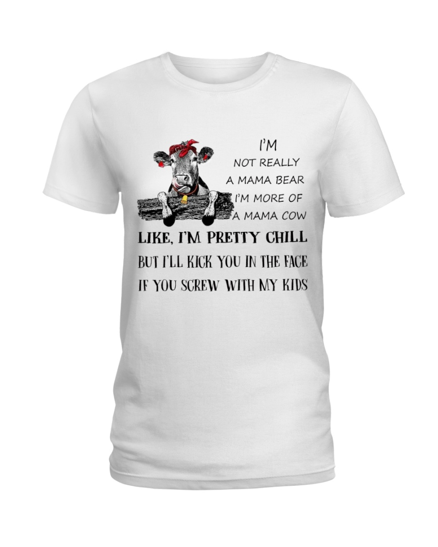 cow T-shirt - I'm more of a mama cow Ladies T-Shirt
