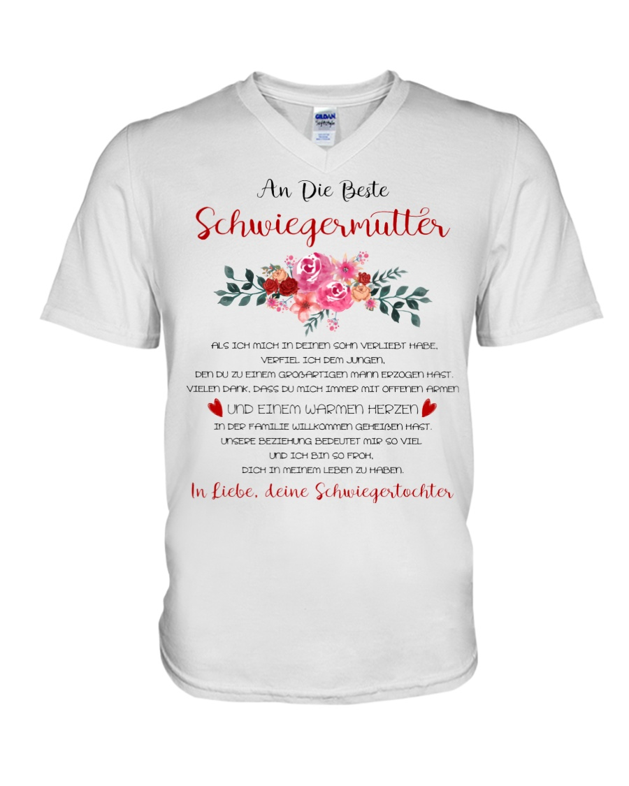 family T-shirt - to mother-in-law V-Neck T-Shirt