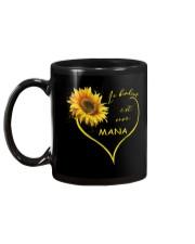 sunflower mug - being a Nana french vs Mug back
