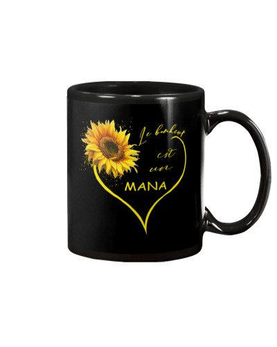 sunflower mug - being a Nana french vs