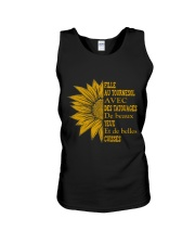 sunflower T-shirt - to girl with tatoos Unisex Tank thumbnail