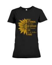 sunflower T-shirt - to girl with tatoos Premium Fit Ladies Tee thumbnail