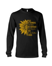 sunflower T-shirt - to girl with tatoos Long Sleeve Tee thumbnail