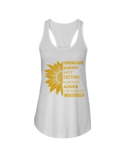 sunflower T-shirt - to girl with tatoos Ladies Flowy Tank thumbnail