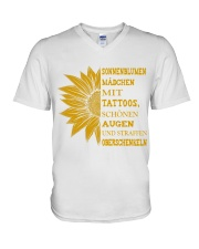 sunflower T-shirt - to girl with tatoos V-Neck T-Shirt thumbnail