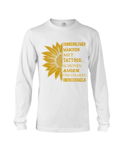 sunflower T-shirt - to girl with tatoos