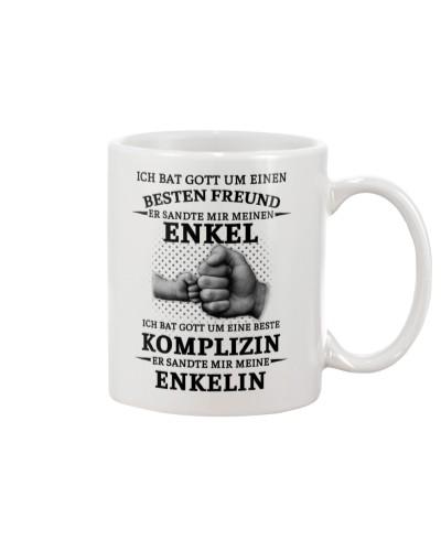 family mug - I asked God German vs