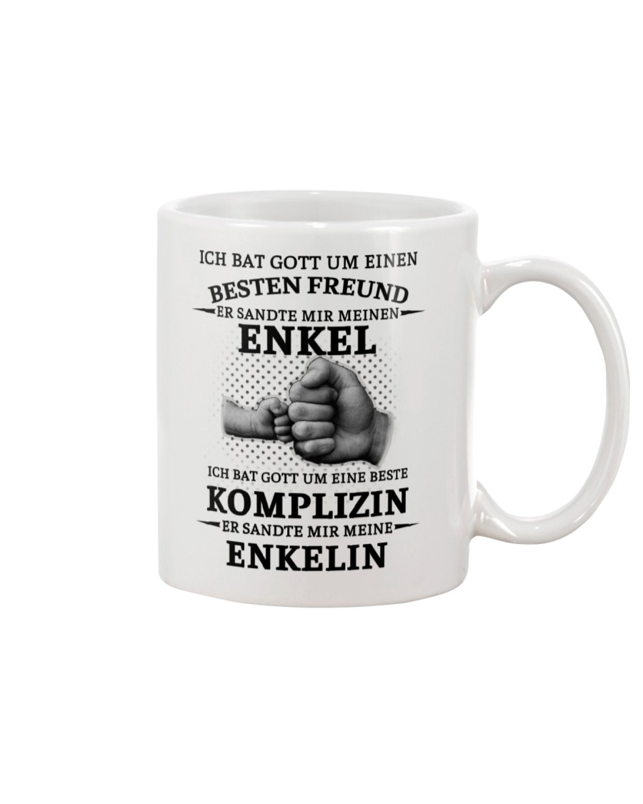 family mug - I asked God German vs Mug