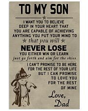 To my son Never lose 11x17 Poster front