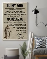 To my son Never lose 11x17 Poster lifestyle-poster-1