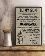 To my son Never lose 11x17 Poster lifestyle-poster-3