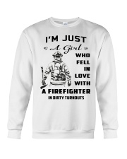 Firefighter A Girl Crewneck Sweatshirt thumbnail