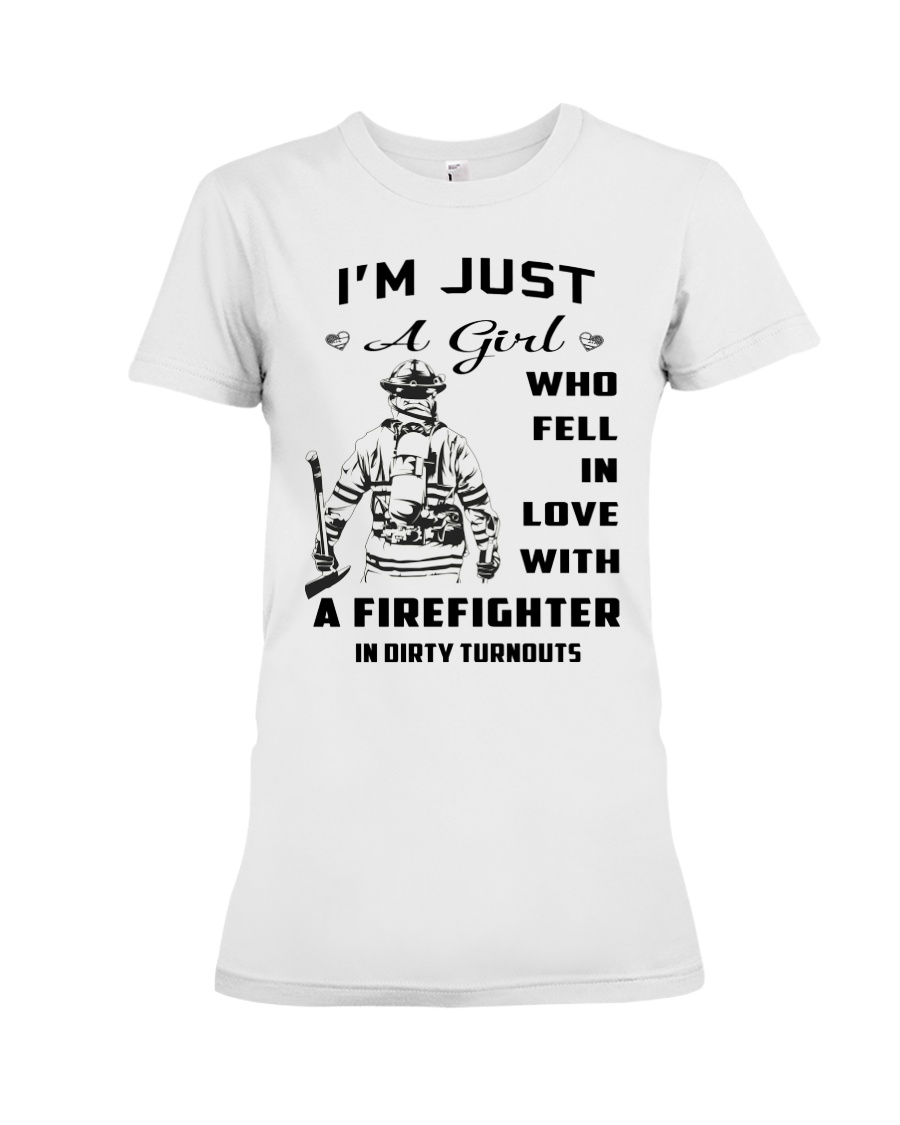 Firefighter A Girl Premium Fit Ladies Tee