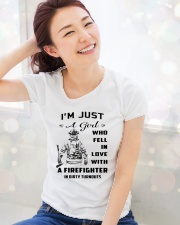 Firefighter A Girl Premium Fit Ladies Tee lifestyle-holiday-womenscrewneck-front-1