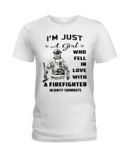 Firefighter A Girl Ladies T-Shirt thumbnail