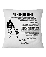 Make it the meaningful message to your son Square Pillowcase back