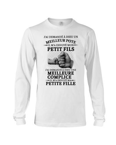 family T-shirt - I asked God French vs